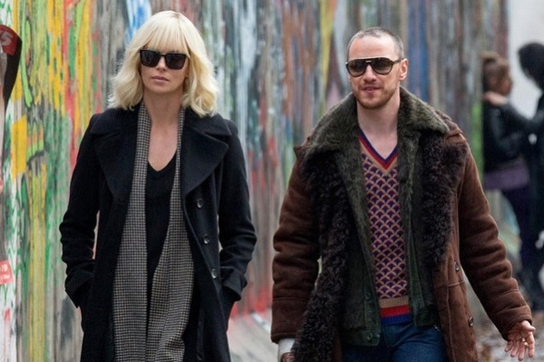 McAvoy and Theron in Atomic Blonde