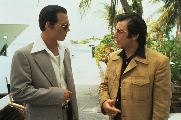 Depp and Pacino in Donnie Brasco