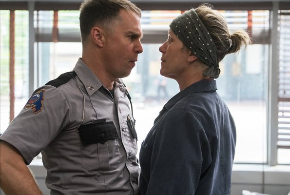Sam Rockwell and Frances McDormand in Three Billboards